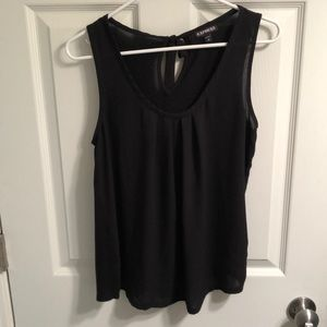 EXPRESS scoop neck top with keyhole back Size M